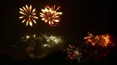 Spectacular display of fireworks Stock Footage