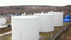 Big Oil Storage Stock Footage