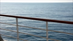 side deck on cruise ship - stock footage