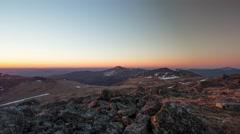 Ural Mountains, Sunrise, Summer, Timelapse Stock Footage
