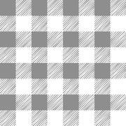 Seamless texture of gray plaid - stock illustration