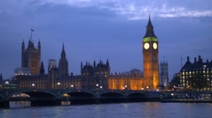 The House of Parliament and the Big Ben in London - stock footage