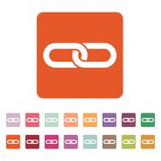 Stock Illustration of The link icon. Linked and  joined, connection, hyperlink, chain symbol. Flat