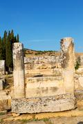 And the roman temple history pamukkale Stock Photos