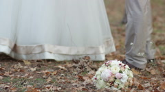 Wedding day of the two happy professional dancers (bride and groom) Stock Footage