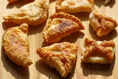 Phyllo cheese patties - stock photo