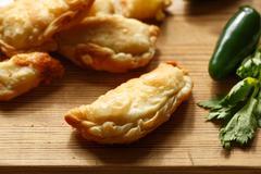 Phyllo cheese patties Stock Photos