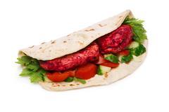 Tikka masala naan sandwich Stock Photos