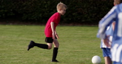 4k Young soccer player celebrate after scoring a goal. Shot on RED Epic. Stock Footage