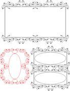 Frame Border Design Stock Illustration
