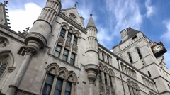 The Royal Court of Justice in London - amazing view Stock Footage