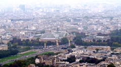 Paris, aerial view of Grand Palais Stock Footage