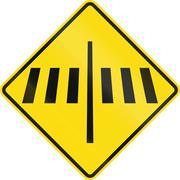 New Zealand road sign - Dedicated pedestrian crossing ahead Piirros