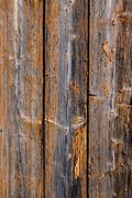 Old devastated wood wall - stock photo
