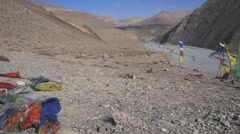 A mountainous view of Lower Mustang, Nepal, Asia Stock Footage