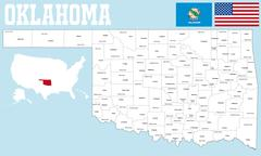 Stock Illustration of Oklahoma county map