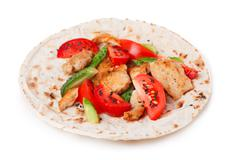 Gyros pita Stock Photos