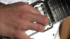 Electric Guitar Picking Stock Footage