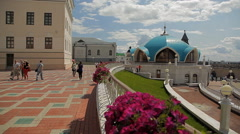 Kul Sharif mosque in Kazan. Russia Stock Footage