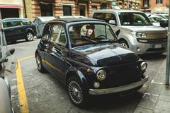 Old car on the street Stock Photos