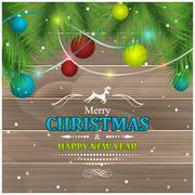 Christmas greeting. Stock Illustration