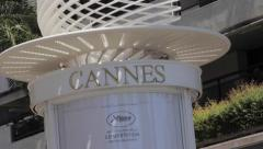 Cannes advert during Cannes Film Festival - stock footage
