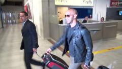 Cannes Airport arrival - Papa Razzi Amaury Nolasco Stock Footage
