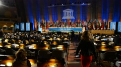 UNESCO Assemby Session in Paris, France Stock Footage