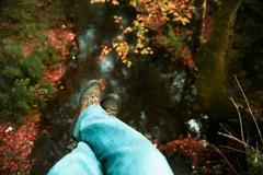 Dangling feet. Stock Photos