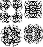 Tribal Tattoo Design - stock illustration