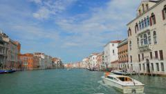 4K POV of Grand Chanal tour in Venice Italy. Stock Footage