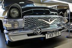 Exhibition of retro-cars in Mezhyhirya - stock photo