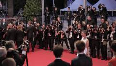 Marion Cotillard on the red carpet in Cannes - stock footage
