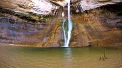 Lower Calf Creek Falls Stock Footage