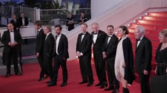 Marion Cotillard, DARDENNE Brothers, Fabrizio RONGIONE, red carpet in Cannes Stock Footage
