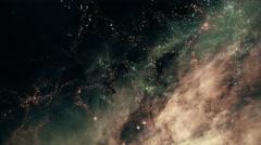 Traveling through star fields in deep space - Star Warp 023 HD, 4K Stock Footage