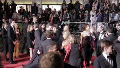 Sophie Marceau arriving on red carpet in Cannes Film Festival Stock Footage