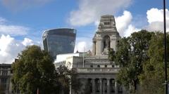 Walkie Talkie Tower in London - stock footage