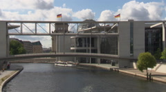 Building of government quarter in Berlin (long shot) Stock Footage