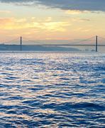 Tagus river, Lisbon, Portugal - stock photo