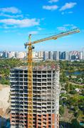New building construction site Stock Photos