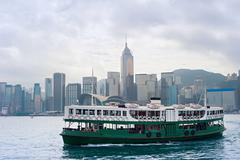 Hong Kong ferry boat - stock photo