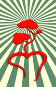 love relative celebration card background - stock illustration