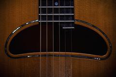 Acoustic Guitar Hole - stock photo