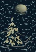 Snowfall Stock Illustration