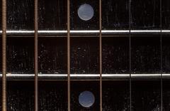 Acoustic Guitar Neck Details - stock photo