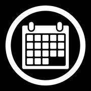Calendar Appointment Rounded Vector Icon Stock Illustration