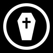 Coffin Rounded Vector Icon - stock illustration