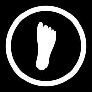 Stock Illustration of Foot Rounded Vector Icon
