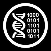 Genetic Code Rounded Vector Icon Stock Illustration